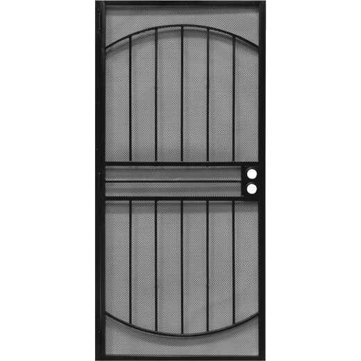 Precision Monterrey 36 In. W x 80 In. H Black Steel Security Door