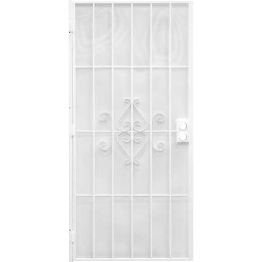 Precision Regal 36 In. W x 80 In. H White Steel Security Door