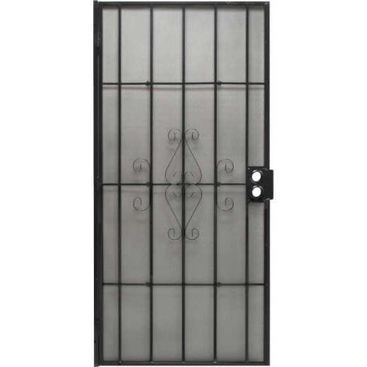 Precision Regal 32 In. W x 80 In. H Black Steel Security Door