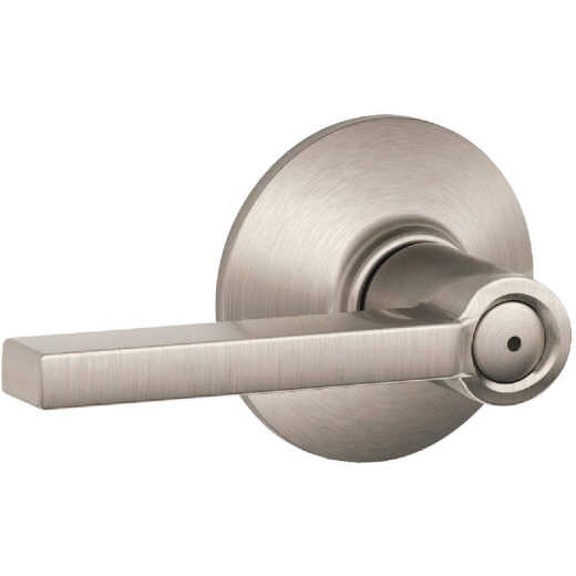 Schlage Latitude Lever Satin Nickel Bed and Bath Lock