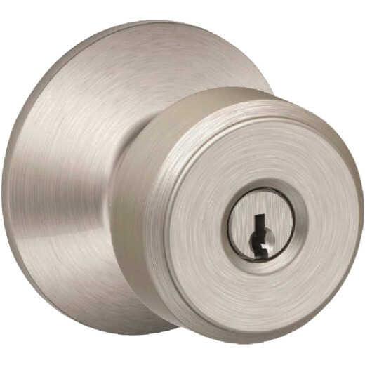 Schlage Bowery Knob Satin Nickel Keyed Entry Lock