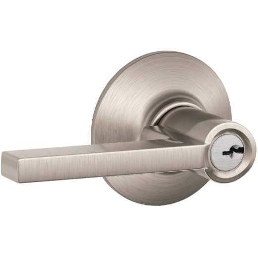 Schlage Latitude Lever Satin Nickel Keyed Entry Lock