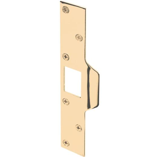 Defender Security Polished Brass 1-1/4 In. Lip Security Strike Plate