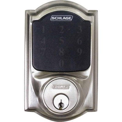 Schlage Connect Touchscreen Satin Nickel Electronic Deadbolt