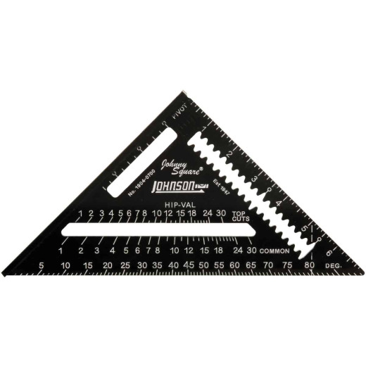 Johnson Level Johnny Square 7 In. Aluminum Professional Easy-Read Rafter Square