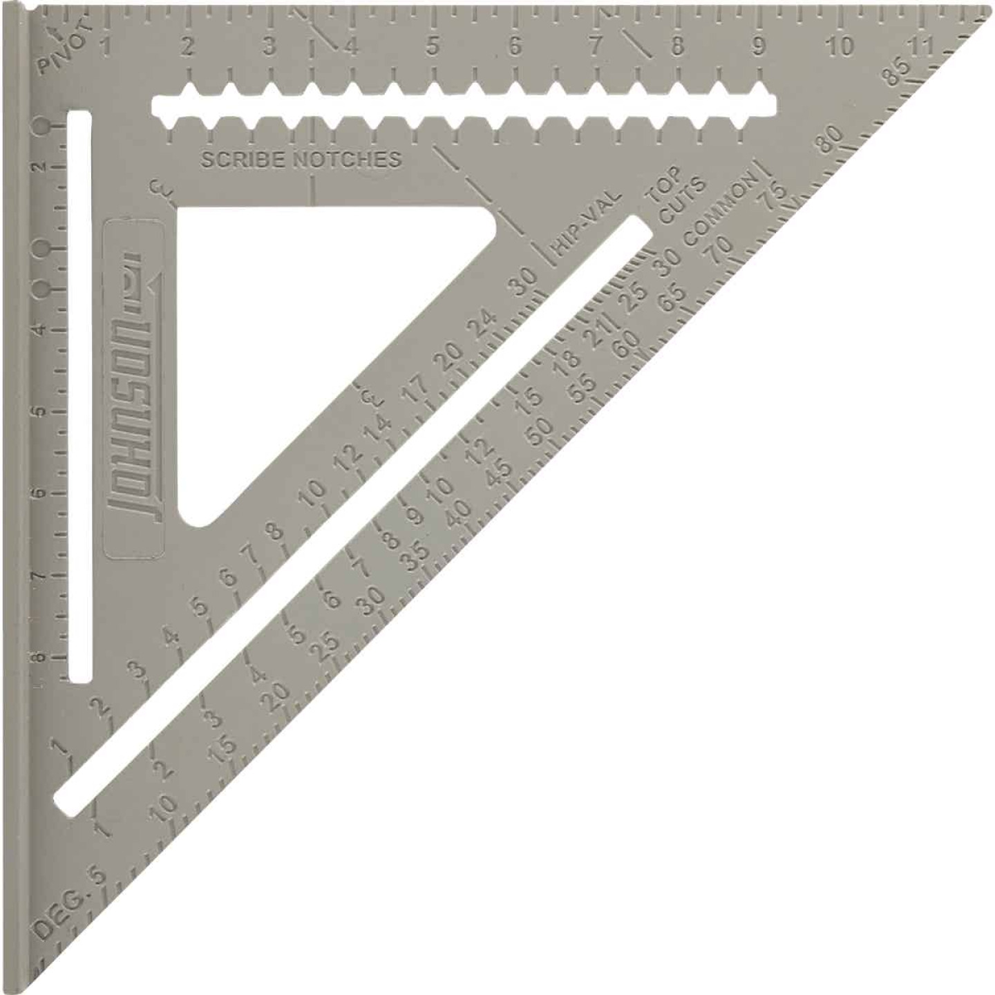 Johnson Level 12 In. Aluminum Rafter Square with Instruction Manual & Rafter Tables Image 1