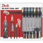Do it Assorted Pliers, 8 In. Adjustable Wrench and 13-Piece Screwdriver Tool Set (20-Piece Total, No Case) Image 2