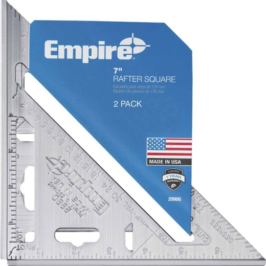 Empire Magnum 7 In. Aluminum Heavy-Duty Rafter Square (2-Pack)