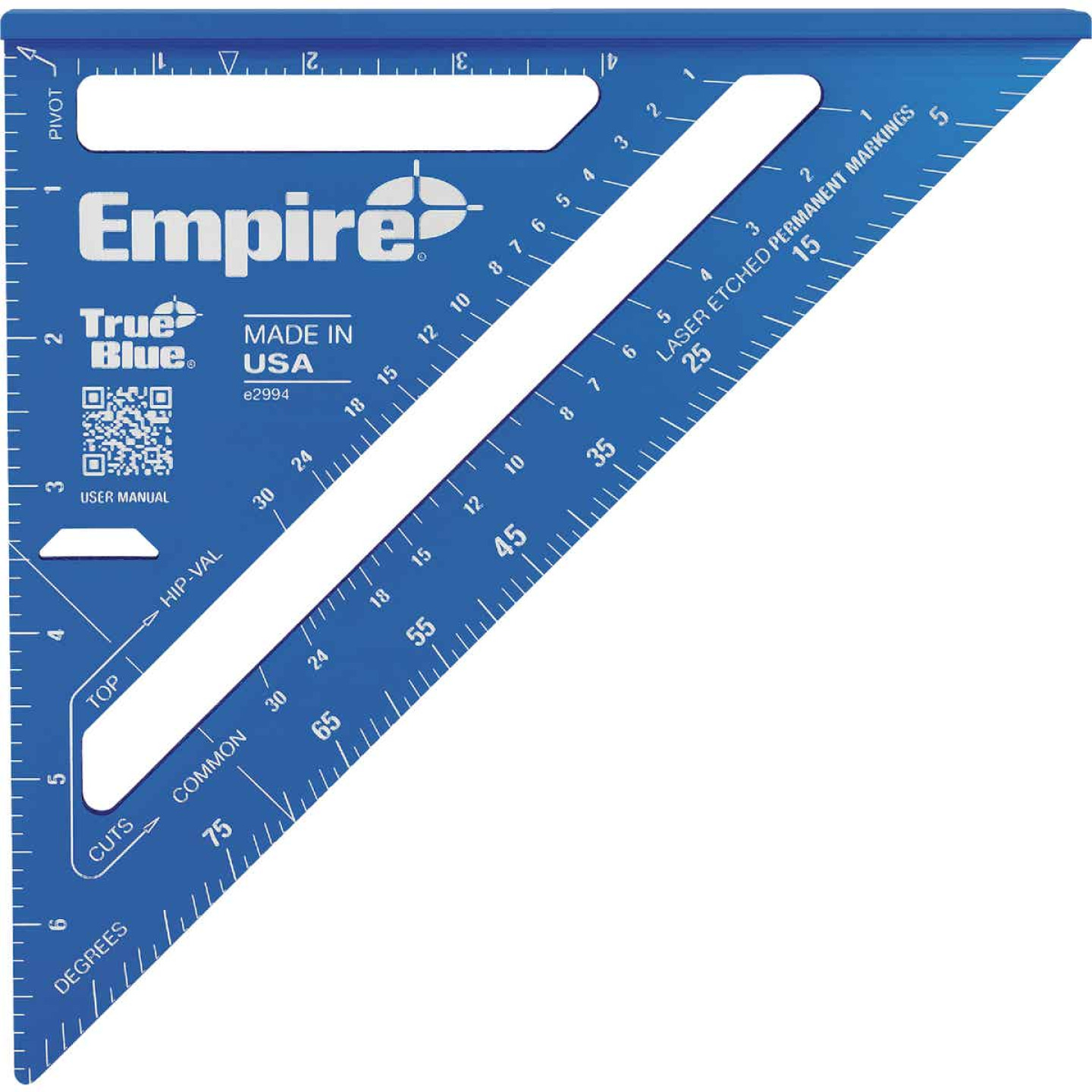 Empire True Blue 7 In. Aluminum Laser Etched Rafter Square Image 1