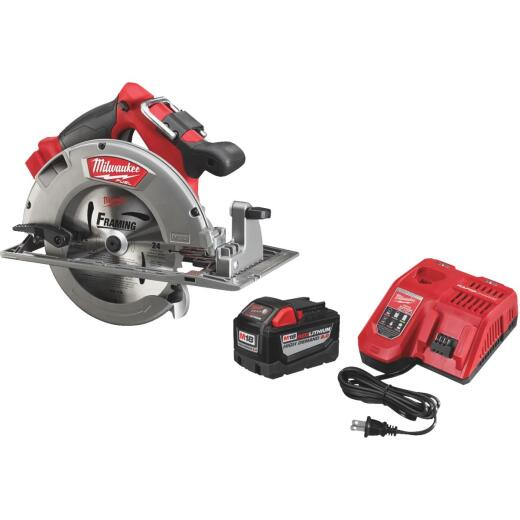 Milwaukee M18 FUEL 18 Volt Lithium-Ion Brushless 7-1/4 In. High Demand Cordless Circular Saw Kit