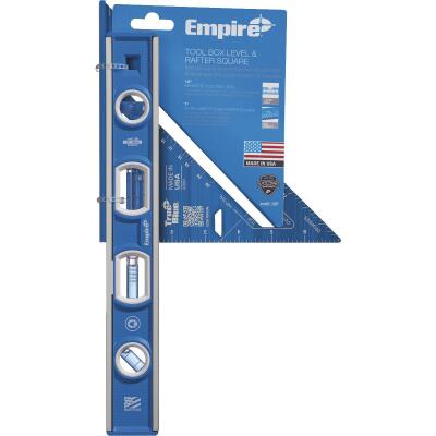 Empire True Blue Torpedo Level & Rafter Square Combo Tool Set (2-Piece)