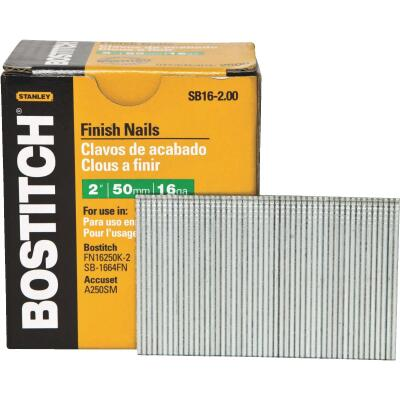 Bostitch 16-Gauge Coated Straight Finish Nail, 2 In. (2500 Ct.)