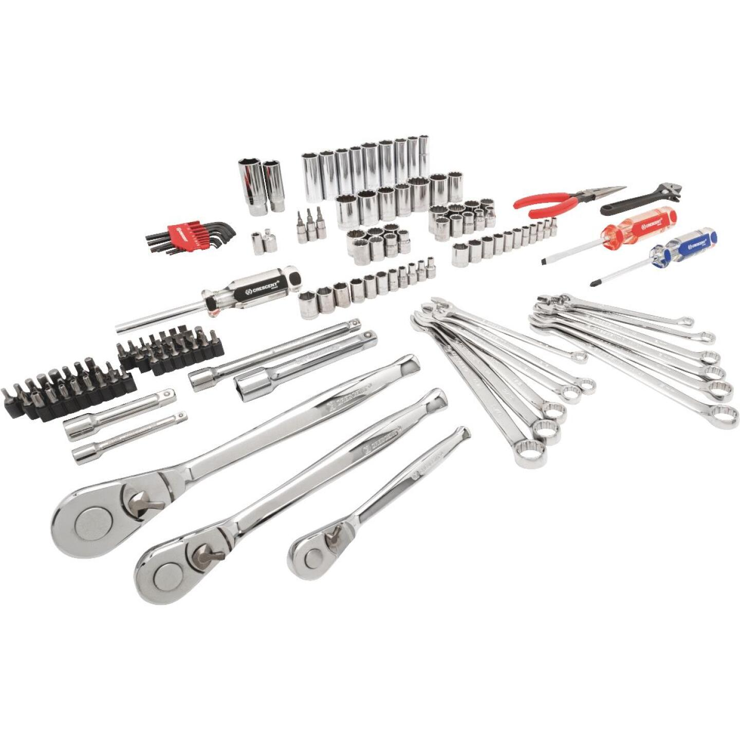 Crescent 1/4 In., 3/8 In., 1/2 In. Drive, 6 & 12-Point Standard/Metric Mechanic & Automative Tool Set (148-Piece) Image 1