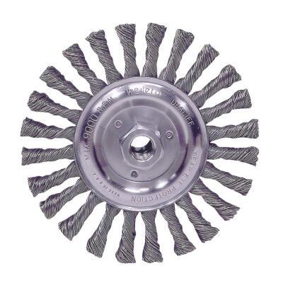 Weiler Vortec 6 In. Stringer Bead 0.025 In. Angle Grinder Wire Wheel