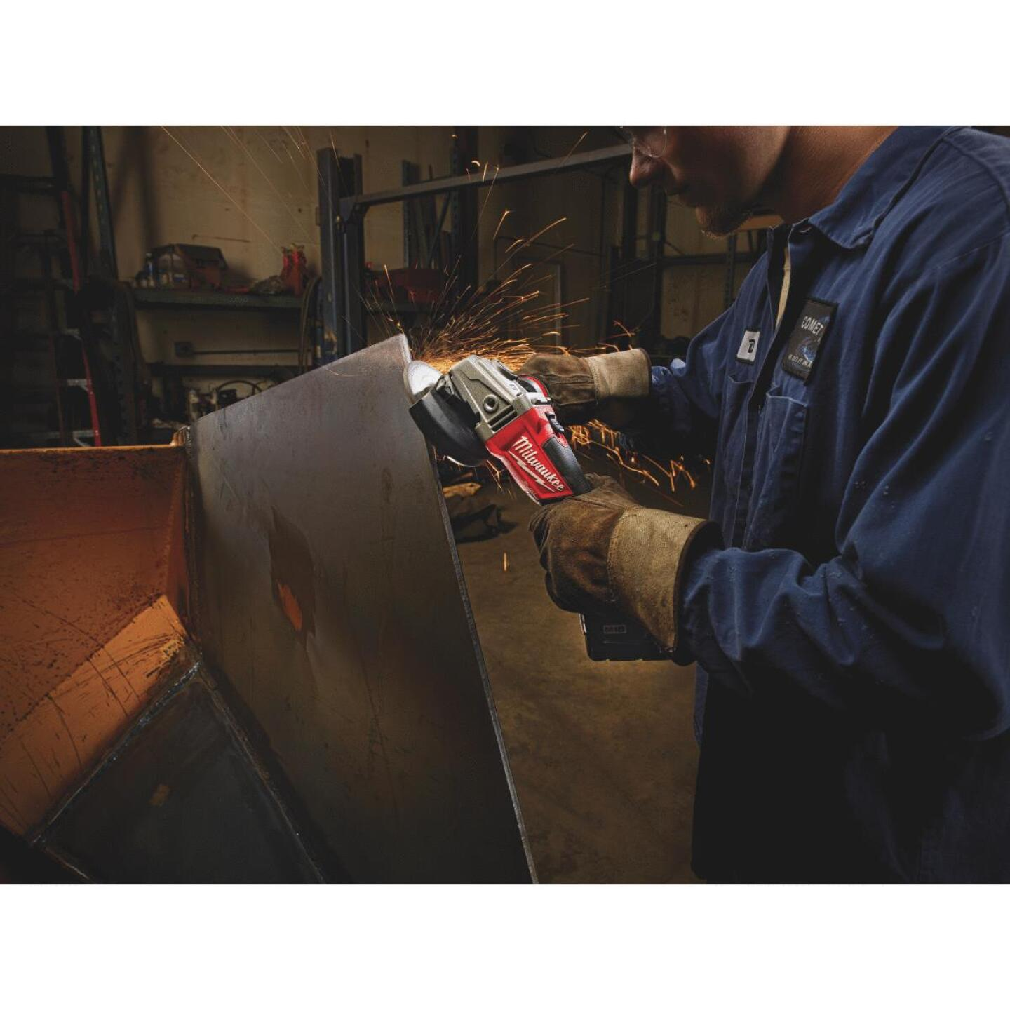 Milwaukee M18 FUEL 18 Volt Lithium-Ion Brushless 4-1/2 In. - 5 in. Cordless Angle Grinder, Slide Switch Lock-On (Bare Tool) Image 2