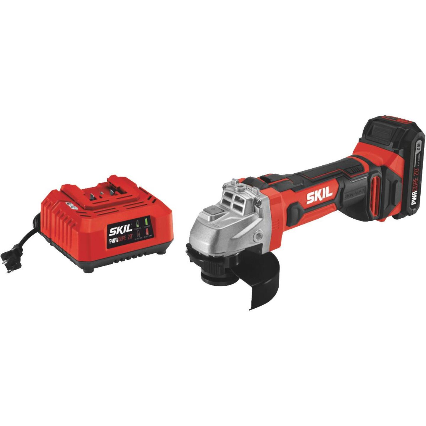 SKIL PWRCore 20 Volt Lithium-Ion 4-1/2 In. Cordless Angle Grinder Kit Image 1