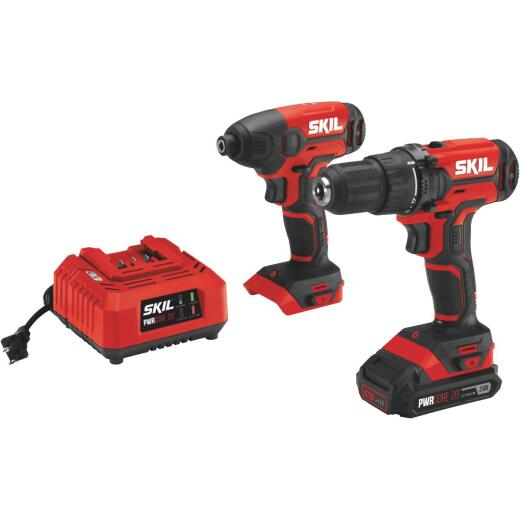 SKIL 2-Tool PWRCore 20 Volt Lithium-Ion Drill/Driver & Impact Driver Cordless Tool Combo Kit