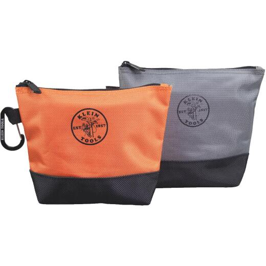 Klein 1-Pocket 8-1/2 In. & 9 In. Stand-Up Zipper Tool Bag (2-Pack)