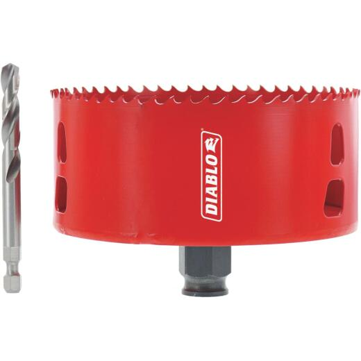 Diablo 4-3/8 In. Recessed Lighted Hole Saw w/Pilot