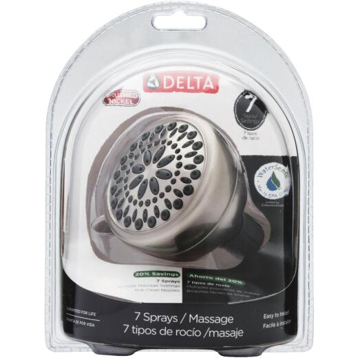 Delta Touch-Clean 7-Spray 1.8 GPM Showerhead, Brushed Nickel