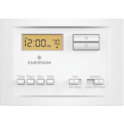 White Rodgers 5-2 Day Programmable White Digital Thermostat