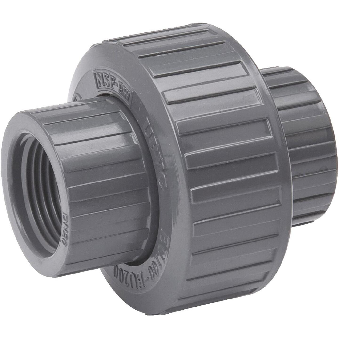 B&K 1 In. Threaded Schedule 80 PVC Union Image 1