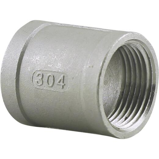 PLUMB-EEZE 1-1/4 In. FIP Stainless Steel Coupling