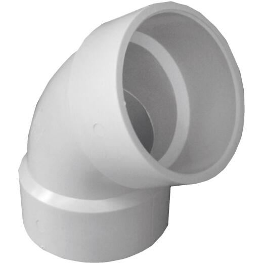 Charlotte Pipe 3 In. 60D PVC DWV Elbow