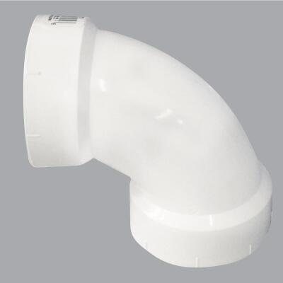 Charlotte Pipe 4 In. 90D Sanitary PVC Elbow