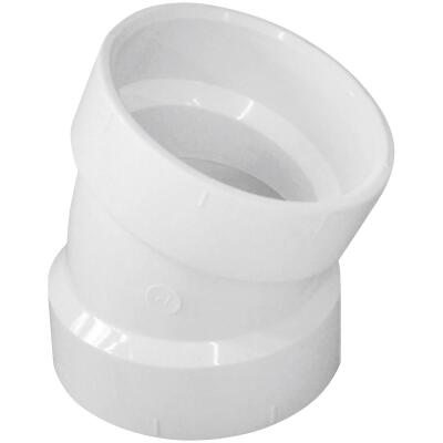 Charlotte Pipe 2 In. 22-1/2D DWV PVC Elbow