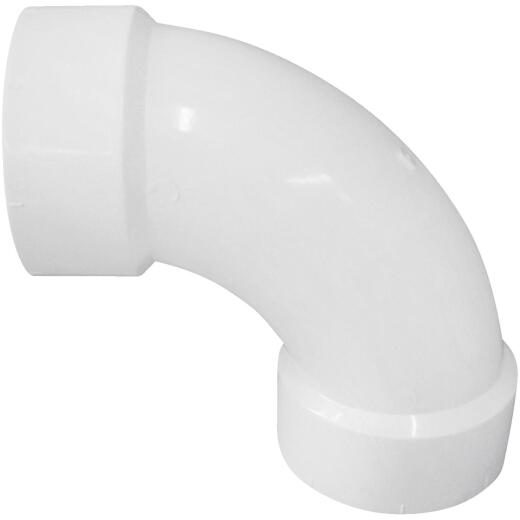 Charlotte Pipe 3 In. 90D PVC Long Sweep Elbow