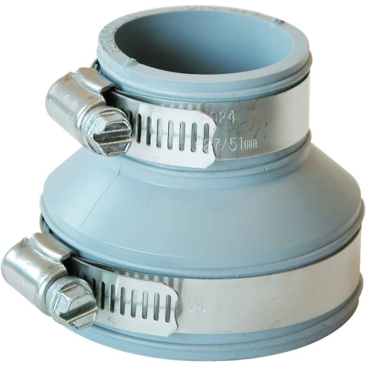 Fernco Flexible 2 In. x 1-1/2 In. PVC Drain and Trap Connector