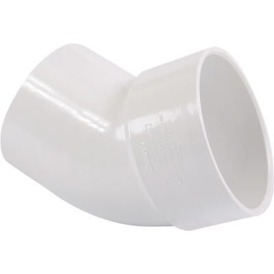 Charlotte Pipe 3 In. 45D PVC Street Elbow