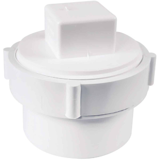 Charlotte Pipe 3 In. Schedule 30 DWV PVC Cleanout with Threaded Plug