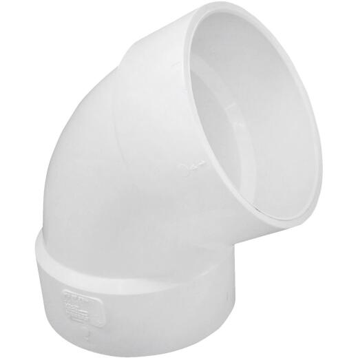 Charlotte Pipe 4 In. 60D PVC DWV Elbow