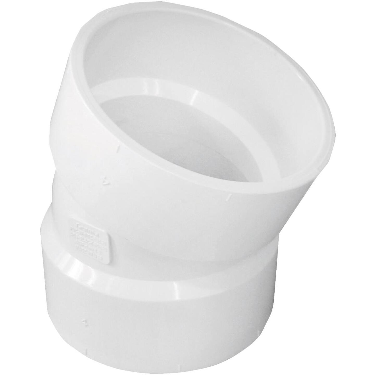 Charlotte Pipe 4 In. 22-1/2D DWV PVC Elbow Image 1