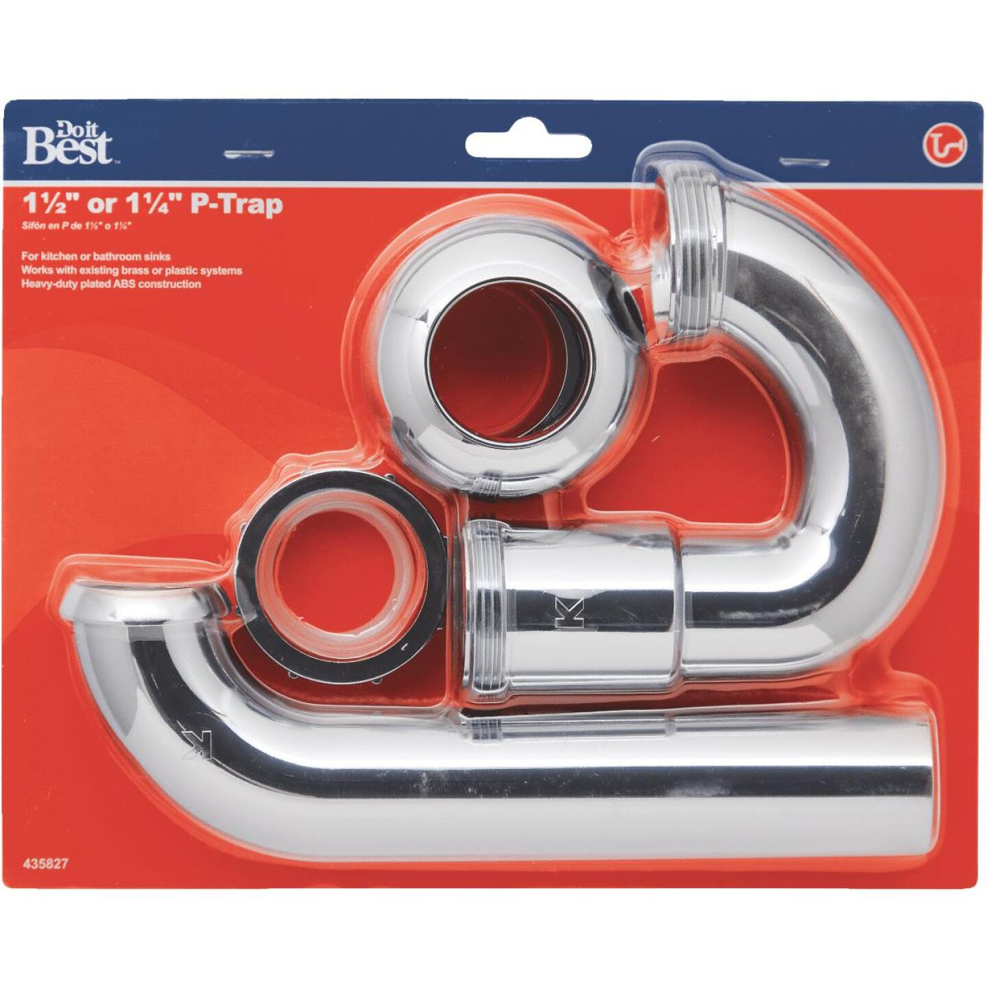 Do it Best 1-1/2 x 1-1/2 In. or 1-1/2 x 1-1/4 In. Chrome-Plated ABS P-Trap Image 2