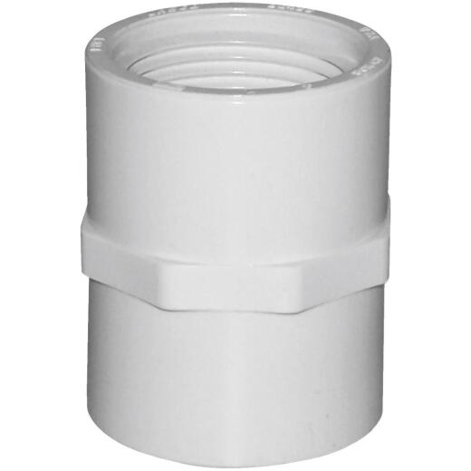 Charlotte Pipe 1 In. FIP Sch. 40 Threaded PVC Coupling