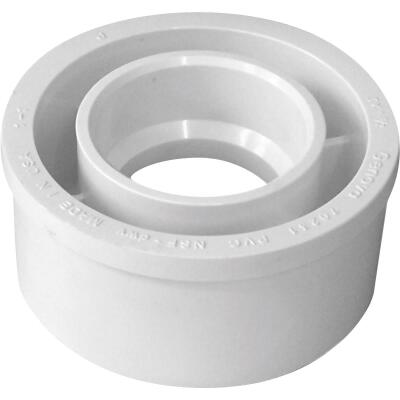 Charlotte Pipe 4 In. SPG x 3 In. Hub Schedule 40 DWV Reducing PVC Bushing