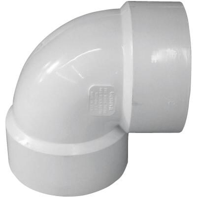 Charlotte Pipe 3 In. 90D PVC Vent Elbow