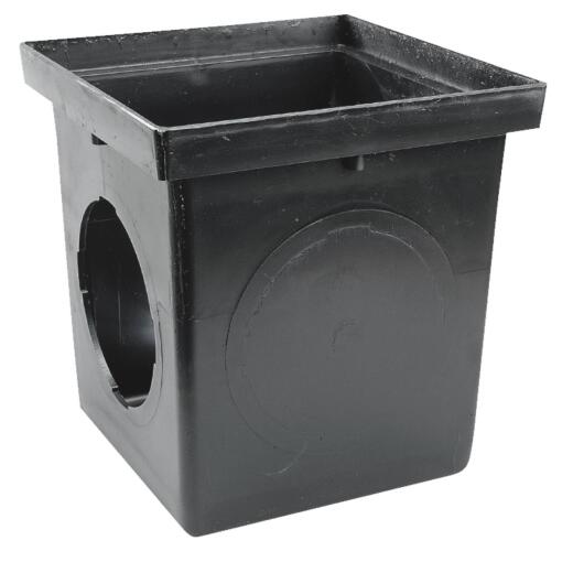 NDS 12 In. x 12 In. Black Square Catch Basin