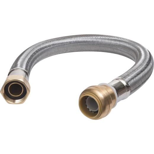 SharkBite 3/4 In. SB X 3/4 In. FIP X 15 In. L Braided Flexible Water Heater Connector