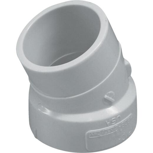Charlotte Pipe 1-1/2 In. 22-1/2D DWV PVC Street Elbow