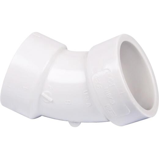 Charlotte Pipe 1-1/4 In. 45D PVC Short Radius Elbow