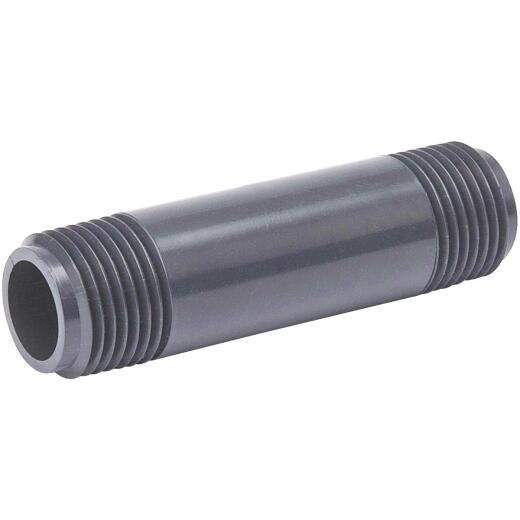 B&K 1-1/2 In. x 6 In. Schedule 80 PVC Nipple