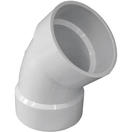 Charlotte Pipe 6 In. 45D PVC Short Radius Elbow