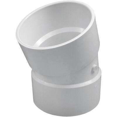 Charlotte Pipe 6 In. 22-1/2D DWV PVC Elbow