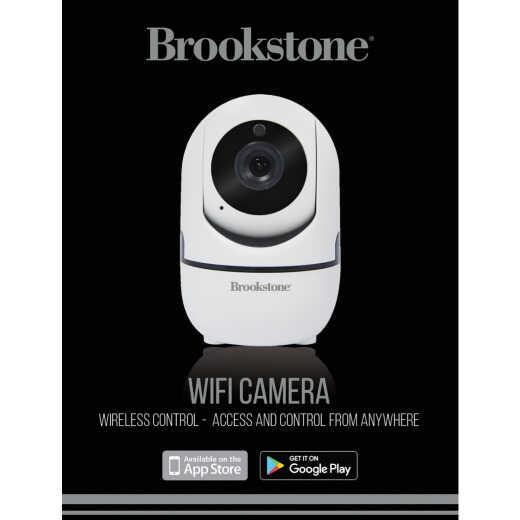 Brookstone Plug-In Indoor White Pan & Tilt WiFi Security Camera