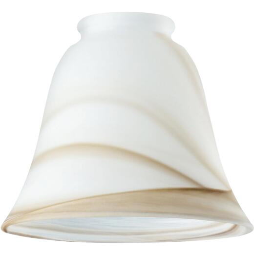 Westinghouse 5-1/8 In. Brown Swirl Bell Glass Shade