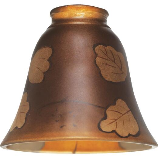 Westinghouse 4-3/4 In. Brown Leaf Glass Shade